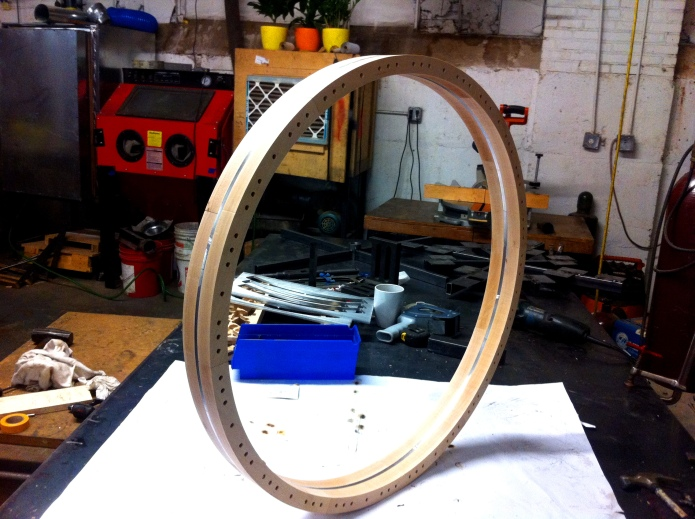 That is one handsome horse wheel.  Photo by Karl Biewald.