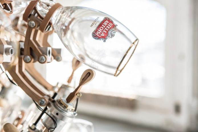 A percussive glass instrument for Stella Artois